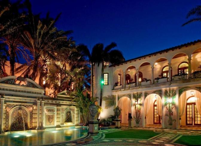 VERSACE MANSION AUCTIONED FOR $41.5 MILLION