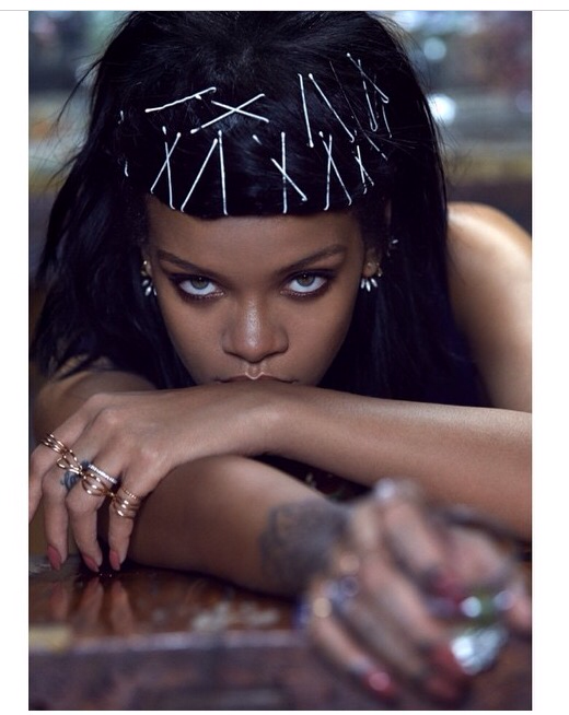 Rihanna topless in AnOther magazine
