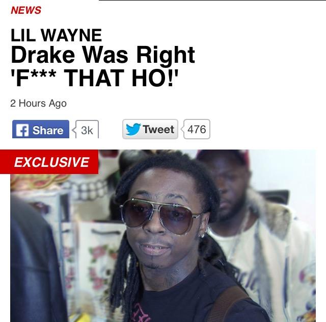 Drake smashed Lil Wayne girl