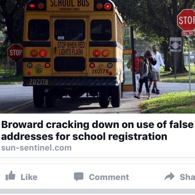 False address to register your kids in better school